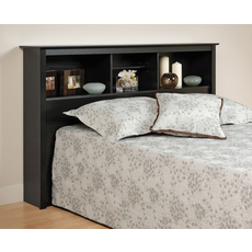 Prepac Bookcase Headboard in Black