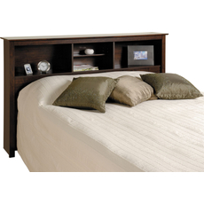 Prepac Bookcase Headboard in Espresso