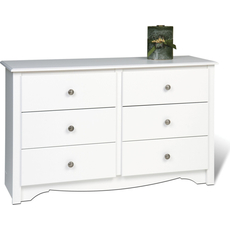 Prepac Monterey Children's 6 Drawer Dresser in White