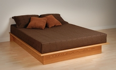 Prepac Platform Bed in Oak