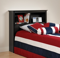 Prepac Twin Bookcase Headboard in Black