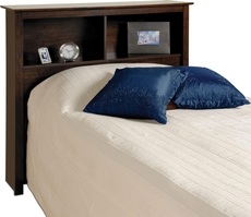 Prepac Twin Bookcase Headboard in Espresso