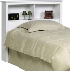 Prepac Twin Bookcase Headboard in White