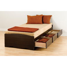 Prepac Twin Mate's Platform Storage Bed with 3 Drawers in Espresso