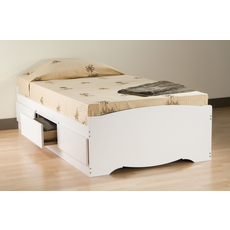 Prepac Twin Mate's Platform Storage Bed with 3 Drawers in White