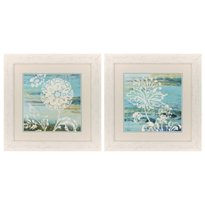 Propac Blue Indigo Lace II Wall Art Set of 2