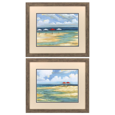 Propac Umbrella Beachscape II Wall Art Set of 2