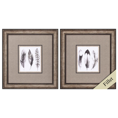 Propac Watercolor Feathers Wall Art Set of 2