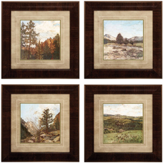 Propac Western I-V-VI-IX Wall Art Set of 4