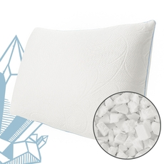Protect-A-Bed Naturals Crystal Queen Size Foam Clusters Medium Pillow