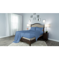 Protect-A-Bed Therm-A-Sleep Crisp Hypoallergenic Full Sheet Set in Blue