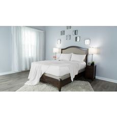 Protect-A-Bed Therm-A-Sleep Crisp Hypoallergenic Full Sheet Set in White