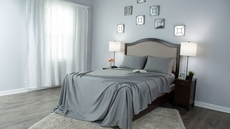 Protect-A-Bed Therm-A-Sleep Crisp Hypoallergenic King Sheet Set in Gray