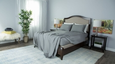 Protect-A-Bed Therm-A-Sleep Essentials Deep Pocket Full Sheet Set in Gray