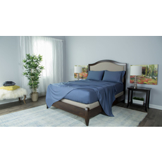 Protect-A-Bed Therm-A-Sleep Essentials Deep Pocket Split California King Sheet Set in Blue