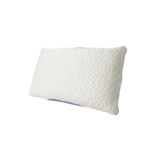 Protect-A-Bed Therm-A-Sleep Snow Queen Size Foam Clusters Medium Pillow