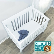 Protect-A-Bed Originals AllerZip Crib Smooth Mattress Protector or Box Spring Encasement