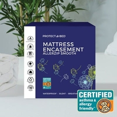 Protect-A-Bed Originals AllerZip 13 Inch Split California King Smooth Mattress Protector or Box Spring Encasement