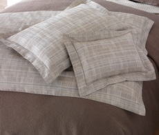 Peacock Alley Biagio Jacquard Standard Sham in Linen