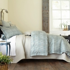 Peacock Alley Biagio Jacquard King Duvet Cover in Mist
