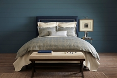 Peacock Alley Biagio Jacquard Queen Duvet Cover in Blue