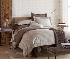 Peacock Alley Biagio Jacquard Twin Duvet Cover in Linen