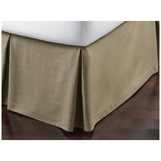 Peacock Alley Mandalay Linen Bed Skirt ruffled