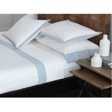 RB Casa Colorado Twin White Fitted Sheet