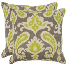 Safavieh Brian 18 Inch Summer Lime Decorative Pillows Set of 2