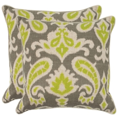 Safavieh Brian 22 Inch Summer Lime Decorative Pillows Set of 2