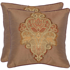 Safavieh Cheyenne 18 Inch Tan Decorative Pillows Set of 2