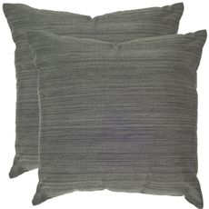 Safavieh Clara 20 Inch Playa Slate Decorative Pillows Set of 2