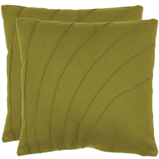 Safavieh Cruz 18 Inch Green Decorative Pillows Set of 2