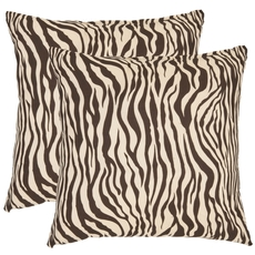 Safavieh Frederick 18 Inch Ivory and Black Decorative Pillows Set of 2
