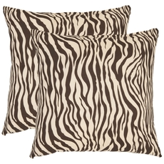 Safavieh Frederick 22 Inch Ivory and Black Decorative Pillows Set of 2