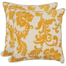 Safavieh Gilbert 22 Inch Golden Apricot Decorative Pillows Set of 2