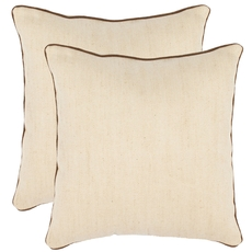 Safavieh Isla 18 Inch Wheat Decorative Pillows Set of 2