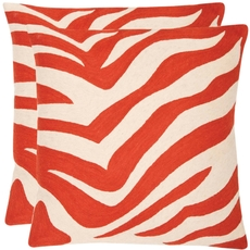 Safavieh Joseph 22 Inch Orange Sunburst Decorative Pillows Set of 2