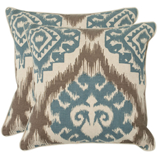 Safavieh Josh 22 Inch Powder Blue Decorative Pillows Set of 2