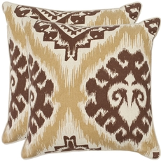 Safavieh Joyce 18 Inch Almond Decorative Pillows Set of 2