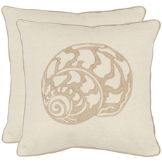 Safavieh Kyler 18 Inch Creme Decorative Pillows Set of 2