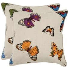 Safavieh Nice 18 Inch Multi Color Decorative Pillows Set of 2