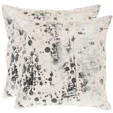 Safavieh Oscar 20 Inch White Frost Decorative Pillows Set of 2