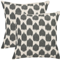 Safavieh Penelope 18 Inch Charcoal Grey Decorative Pillows Set of 2