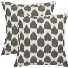 Safavieh Penelope 22 Inch Charcoal Grey Decorative Pillows Set of 2