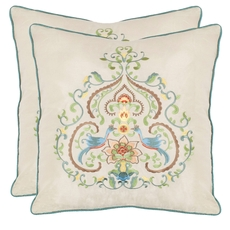 Safavieh Phil 18 Inch Creme Decorative Pillows Set of 2