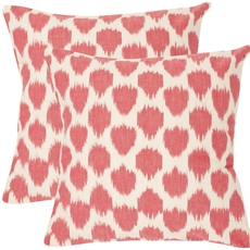 Safavieh Sarra 18 Inch Rose Red Decorative Pillows Set of 2