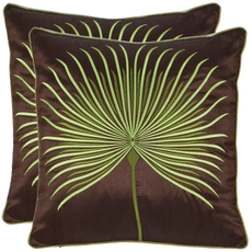 Safavieh Scarlet 18 Inch Green Decorative Pillows Set of 2