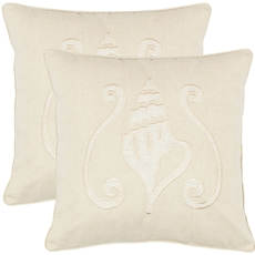 Safavieh Shawn 18 Inch Sand Decorative Pillows Set of 2
