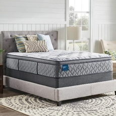 Cal King Sealy Crown Jewel Performance Roseway Plush Pillow Top 15 Inch Mattress
